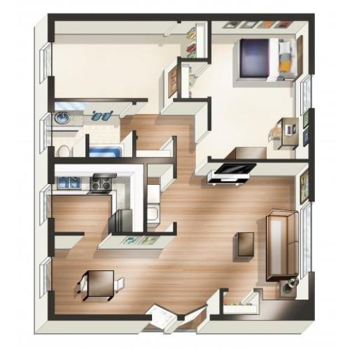 A1 Floor Plan  | University Park | Apartments In Greenville NC