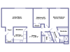 Islander floor plan 2D
