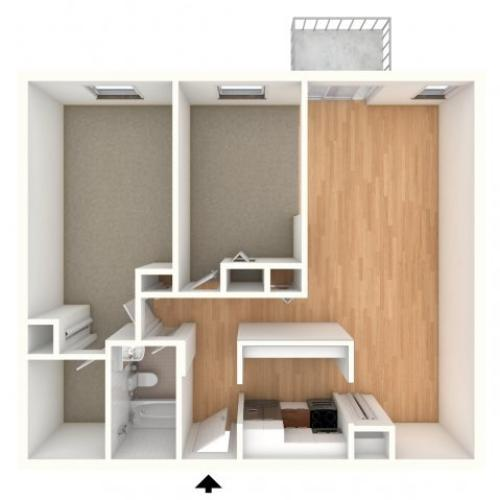 One bedroom den floor plan