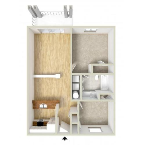 Godfrey - one bedroom with den floor plan