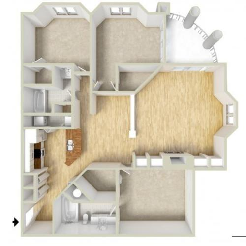 Owen - three bedroom floor plan