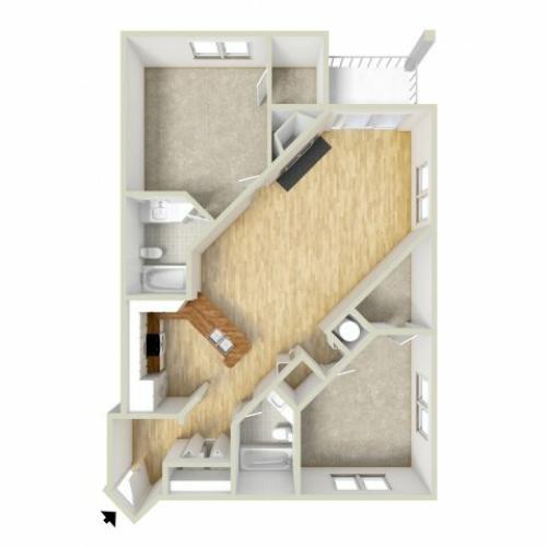 Jackson - two bedroom floor plan