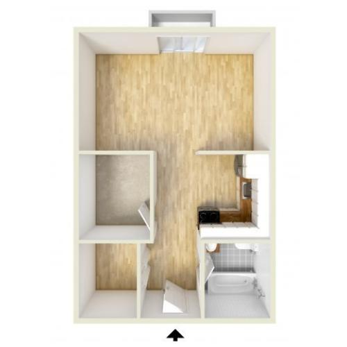 Junior one bedroom apartment | Gulph Mills Village Apartments