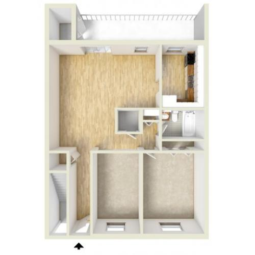 One bedroom with Den