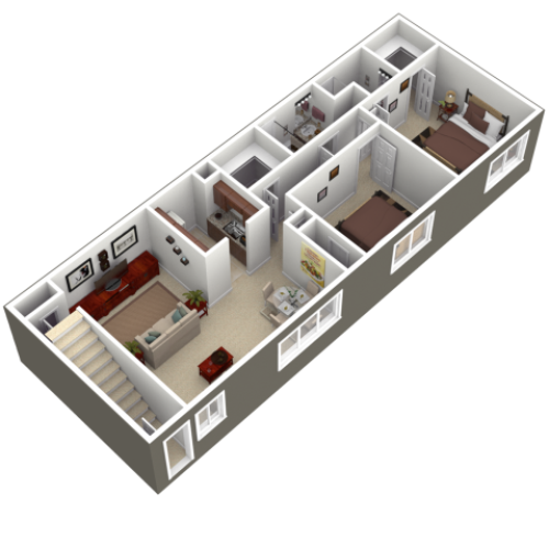 Floor Plan 1 | Apartments For Rent In Wyomissing PA | Woodland Plaza