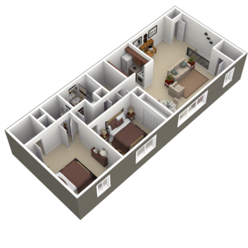 Floor Plan 2 | Apartments In Wyomissing PA | Woodland Plaza