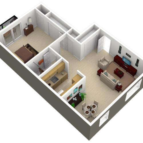 Floor Plan 1 | Apartments In Womelsdorf Pennsylvania | Park Court Apartments