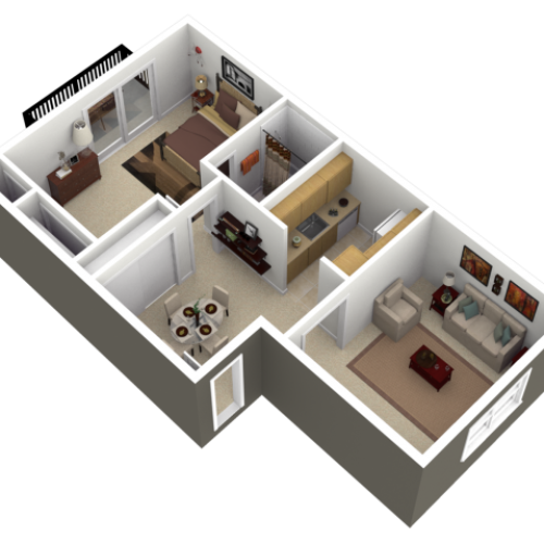 Floor Plan 5 | Apartments For Rent near Reading Pennsylvania | Park Court Apartments