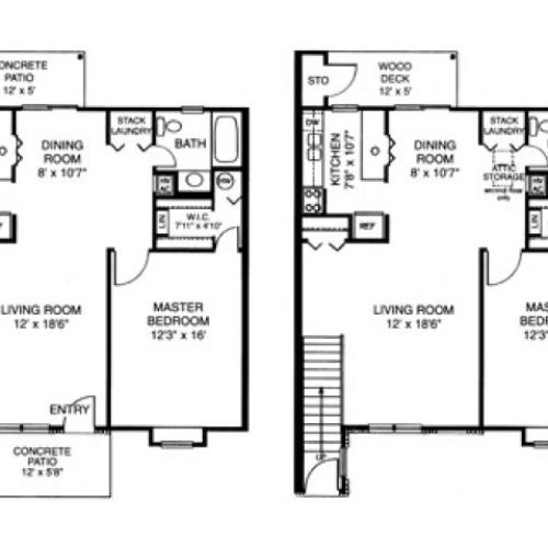 Floor Plan 4 | Apartments For Rent Wyomissing PA | Victoria Crossing Apartments