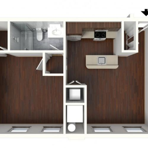 1 Bedroom Floor Plan | Apartments For Rent In Kennett Square PA | Magnolia Place