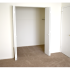 Oak Tree Sample Bedroom with Open Closet | Newark Apartments DE