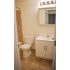 Willow Ridge Village Sample Bathroom with Beige Shower Tile Floor and White Vanity | Apartments In Marlton NJ