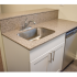 Willow Ridge Village Sample Kitchen with White Vanity with Beige Countertop | Apartments In Marlton NJ