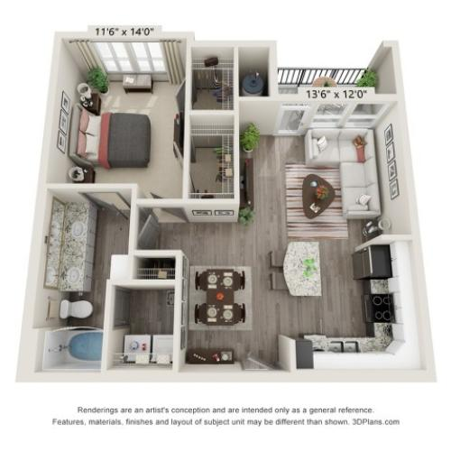 A3-H Floor Plan