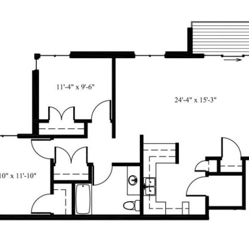 Deer View Doe 2X1 Floor Plan