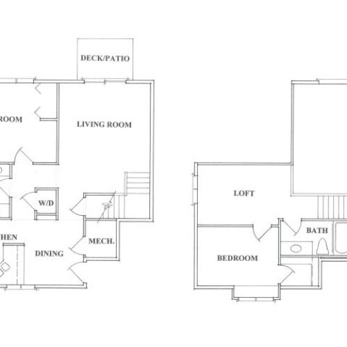 Two Bedroom Loft Apartment
