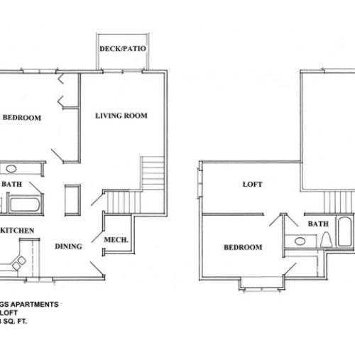 Two Bedroom Loft