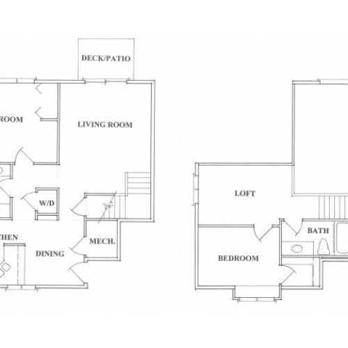 Two Bedroom Two Bath Loft