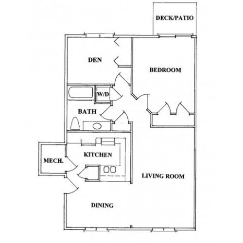 One Bedroom With a Den