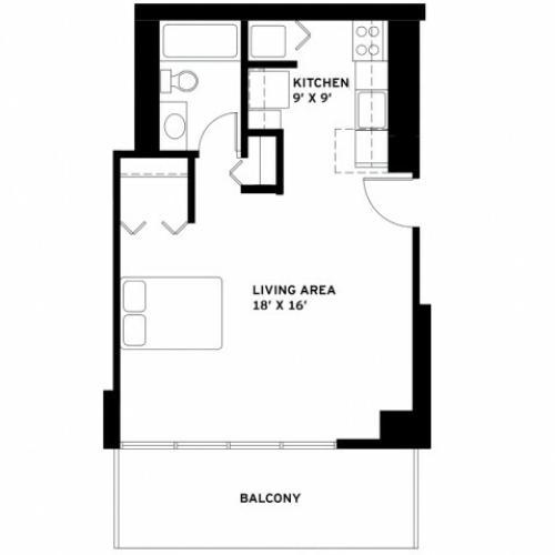 Studio Floor Plan F