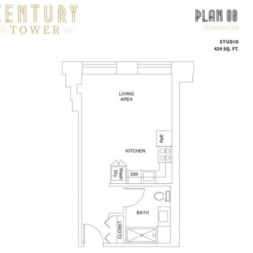 Studio Plan 8 Renovated