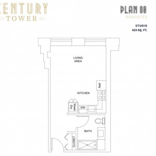 Studio Plan 8 Renovated