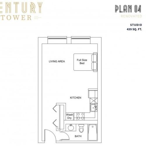 Studio Plan 4 Renovated