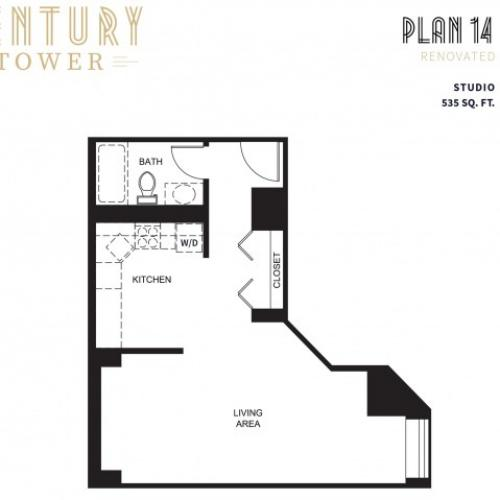Studio Plan 14 Renovated