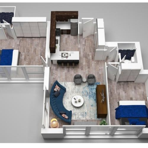 2 Bedroom Floor Plan G