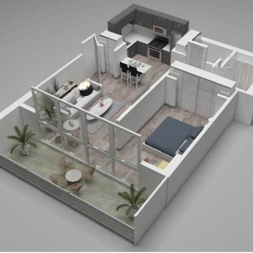 Convertible Floor Plan E