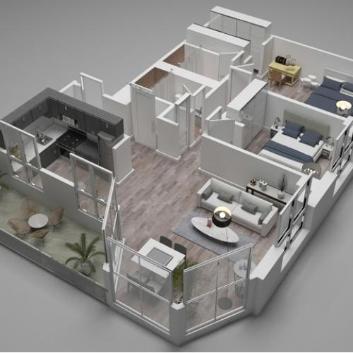 Two Bedroom Floor Plan B