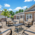 Outdoor Patio Area with Seating &Tables | Deacon's Station Apartments | Apartments In Winston-Salem, NC