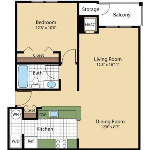Floor Plan 6 | Apartments For Rent Frederick MD | Reserve at Ballenger Creek