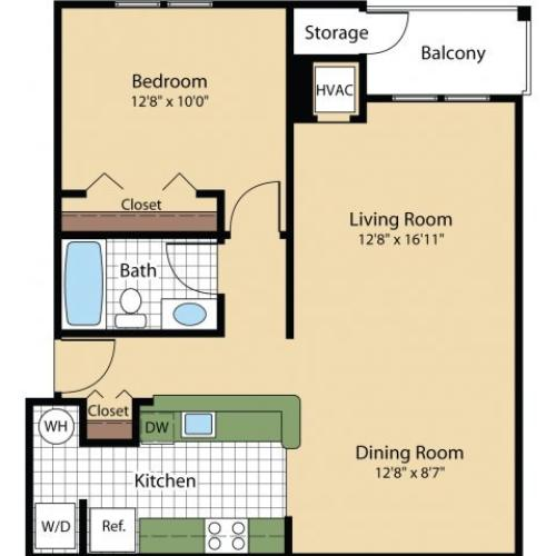 Floor Plan 8 | Apartments In Frederick MD | Reserve at Ballenger Creek