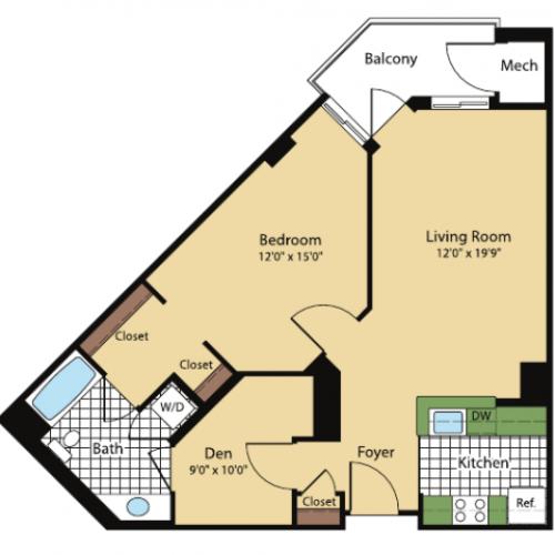 Floor Plan | Meridian at Pentagon City