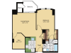Floor Plan 1 | Meridian at Pentagon City