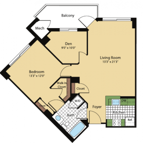 Floor Plan 3 | Meridian at Pentagon City