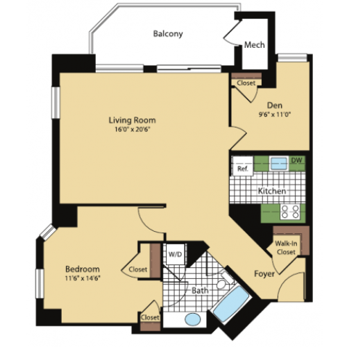 Floor Plan 4 | Meridian at Pentagon City