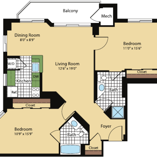 Floor Plan 6 | Meridian at Pentagon City