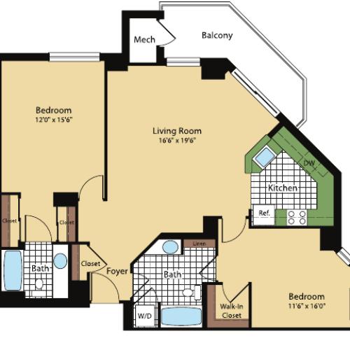 Floor Plan 7 | Meridian at Pentagon City