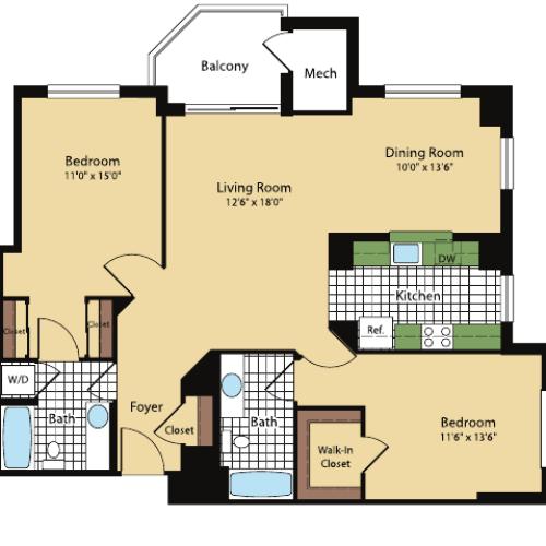 Floor Plan 8 | Meridian at Pentagon City
