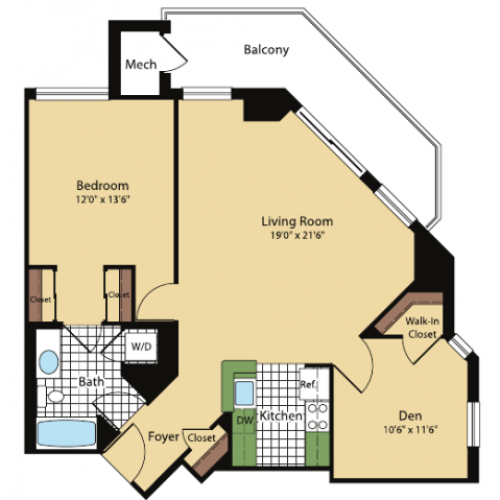Floor Plan 2 | Meridian at Pentagon City