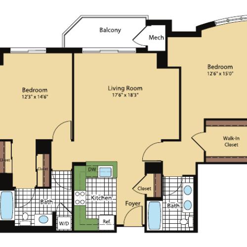 Floor Plan 10 | Meridian at Pentagon City