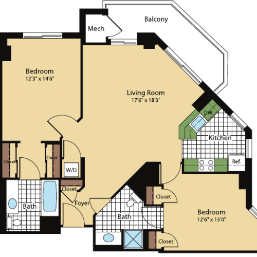 Floor Plan 9 | Meridian at Pentagon City
