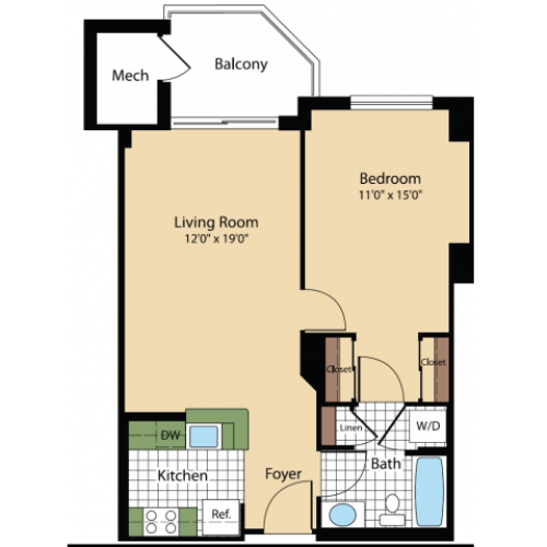 Floor Plan 13 | Meridian at Pentagon City