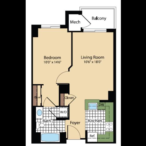 Floor Plan 16 | Meridian at Pentagon City
