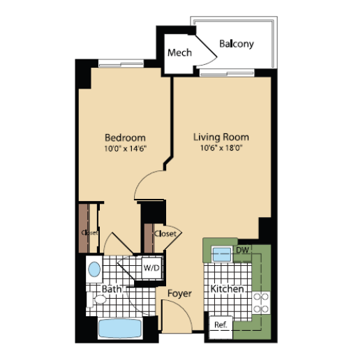 Floor Plan 16 | Meridian at Pentagon City