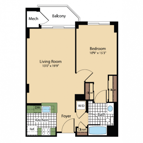 Floor Plan 15 | Meridian at Pentagon City