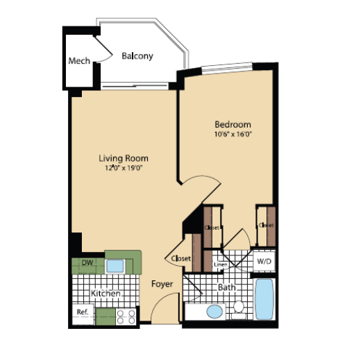 Floor Plan 14 | Meridian at Pentagon City