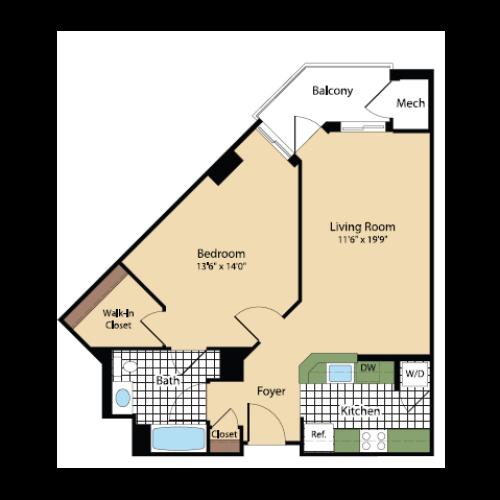 Floor Plan 17 | Meridian at Pentagon City